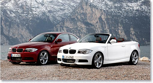 motormobiles facelift bmw 1er cabrio und coup sowie. Black Bedroom Furniture Sets. Home Design Ideas