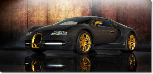 motormobiles bugatti veyron linea vincero d 39 oro mit goldauflage von mansory. Black Bedroom Furniture Sets. Home Design Ideas
