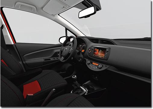 Motormobiles facelift toyota yaris 2015 kommt im sommer 2014 for Interieur yaris 2015