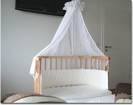Babybett himmel selber nahen baby wiege bett genial nestchen und